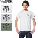 【ネコポスで送料無料】WAIPER.inc 1718005 S/S クルーネック プリント Tシャツ MEDICAL MARKメンズ ミリタリー WIP_1