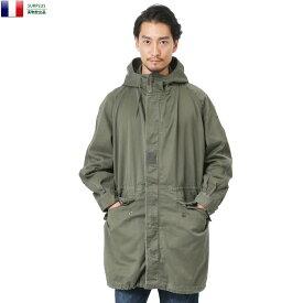 実物 USED フランス軍 M-64パーカーコート ライナー無し ミリタリージャケット メンズ ジャケット ミリタリー 実物放出品 サープラス WIP 【クーポン対象外】 キャッシュレス 5%還元 新生活応援 衣替え