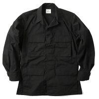 実物新品米軍ブラックリップストップジャケット