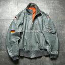 【あす楽】ミリタリージャケット メンズ / 実物 USED ドイツ軍 BLW(ドイツ連邦空軍)レザー フライトジャケット【ク…