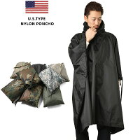 ミリタリー 新品 米軍タイプ ナイロンポンチョ レインウェア レインコート 雨合羽 梅雨 防水 WIP メンズ アウトドア