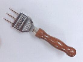 デラックス/アイスピック/3本刃/全長約18cm/氷割り/丸氷作り/オンザロック/木製ハンドル/業務用/バー用品