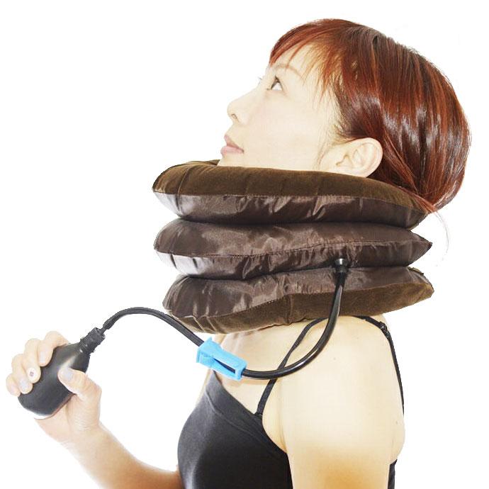 ネックサポーター 肩こりの人必見! ネックストレッチャー 首の伸ばし 空気圧で首のマッサージ  首枕 あす楽対応  注目商品 転売しないでネ あす楽対応商品