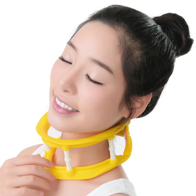 ネックストレッチャー 首サポーター ネックサポーター 黄色 高さ調整可能 重い頭をサポート 柔らかいシリコン素材使用 パソコン時にも最適。フリーサイズ あす楽対応 送料無料 注目商品