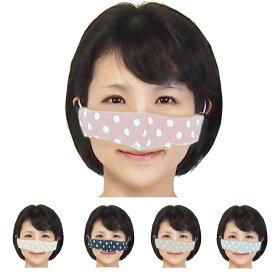 【送料無料】鼻マスク 花粉症 鼻だけマスク 安心日本製ダブルガーゼ使用で快適 ノーズマスク 5色より選択水玉模様の可愛いマスクの進化はとまらない耳のゴムアジャスター付長さ調整可能いびき対策 マスクの煩わしさから解放される鼻のためだけの近未来型マスク