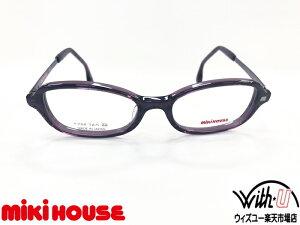 miki HOUSE ミキハウス 眼鏡 メガネ フレーム キッズ ジュニア 子供眼鏡 こども【MH28-3】 44サイズパープル スクエア オーバル