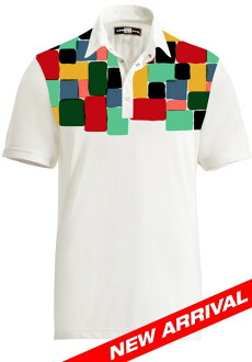 Loudmouth Polo Fancy Technicolor Dream Polo US import!