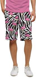 【激レア】LOUDMOUTH ラウドマウスゴルフ Savage Flamingos StretchTech ストレッチ ショートパンツ ジョン・デーリー着用 US直輸入!