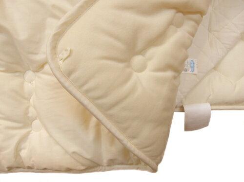 【送料無料】【日本製】綿100%ベビー掛布団(やわらかスムース付)綿素材は身体に優しく大切な赤ちゃんにお勧めします。