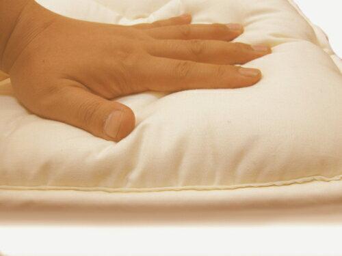 【送料無料】【日本製】綿100%ベビー 二層式敷布団赤ちゃんのために適度な硬さを求めました。へたりにくく、汗を吸収してくれます。