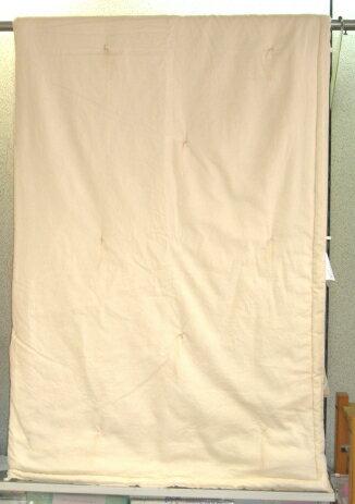 【送料無料】【日本製】135×185cm正絹真綿布団(手引き正絹角真綿)アレルギー対策品丸洗いができます。側地は二重晒ガーゼシルク