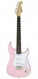 LEGEND EG ミニギター 580mmスケール LST-MINI KWPK カワイイピンク ストラトタイプ エレキギター【初心者】【送料無料】【新品】