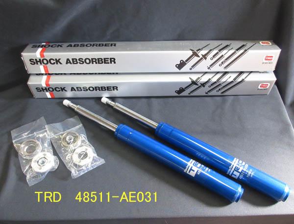 TRD ショック ショート 減衰調整式 フロント 2本 [レビン/トレノ AE86] ショートストローク 新品