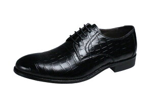 送料無料 マドラス モデロ メンズシューズ madras MODELLO 385 ブラック 黒 クロコダイル型押し革使用紳士靴 本革 革靴 通勤 外羽根ビジネスシューズ レースアップ紳士靴 おしゃれな装いに良