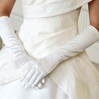 ベーシックなデザインでドレスに合わせやすいグローブ