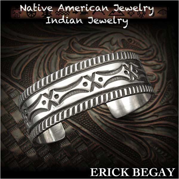 新品 エリックビゲィ/Erick Begay バングル ブレスレットインディアンジュエリー シルバー925 ナバホ族 ユニセックスErick Begay cuff Native American Indian Jewelry Sterling Silver 925(ID na3193r73)
