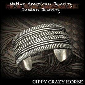 新品 シッピー・クレイジー・ホース/Cippy Crazy Horse バングル ブレスレット インディアンジュエリー シルバー925 ユニセックスCippy Crazy Horse Cuff Bracelet Indian Jewelry Sterling Silver (ID na3188r73)
