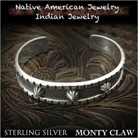 新品 モンティ・クロー/Monty Claw バングル ブレスレットインディアンジュエリー シルバー925 ナバホ族 ユニセックスMonty Claw cuff Native American Indian Jewelry Sterling Silver 925(ID na3202r73)