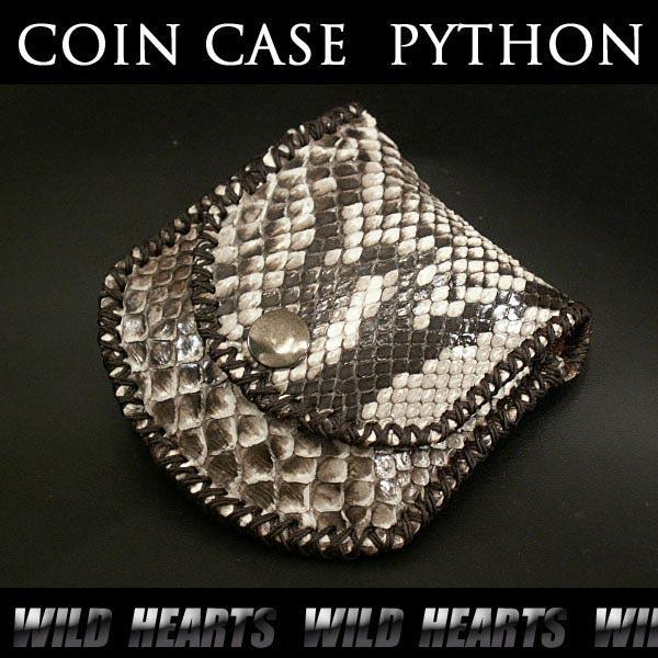 コインケース/小銭入れ/パイソン/牛革/Coin Purse/Leather Coin Case/Python WILD HEARTS leather&silver(ID cc1271r20)