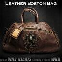 最佳品質真皮波士頓包/健身房/商務/單肩/斜挎/旅行包大尺寸Best Quality genuine leather Boston Bag/Gym/Business/Shoulder/Messenger/Travel Bag Big size WILD HEARTS Leather&Silver(Item ID bb2799)
