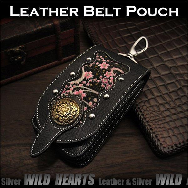 スマホケース アイフォンケース たばこケース 本革/レザー&和柄/ちりめん京友禅Leather iPhone Case Smartphone Case Cellphone Case Japanese design and fabric WILD HEARTS Leather&Silver(ID cc1332r71)