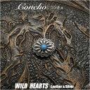 ミニ コンチョ シルバー925 ターコイズ インディアンスタイル Concho Silver925 Turquoise WILD HEARTS Leather&...