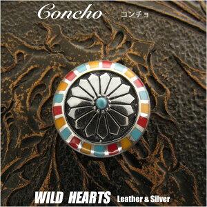 コンチョ インディアンジュエリー シルバー925 Solid 925 silver Concho Native American WILD HEARTS Leather&Silver (ID 0273t33)