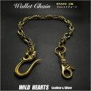 真鍮製 ウォレットチェーン スカル/ドクロ/髑髏/Brass Skull&Bones Wallet Chain Key Chain WILD HEARTS Le...