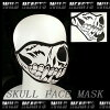 Face Mask/Skull Mask/Winter Warmer Half Face Mask WILD HEARTS Leather&Silver (ID sfm2t6)
