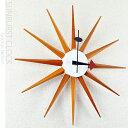 ジョージネルソンデザイン 壁掛け時計 -サンバーストクロック- (ウッディブラウン) あす楽 送料無料