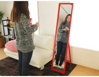 木製フレームスタンドミラー鏡姿見選べる7色全身スタンドミラー天然パイン材使用単品販売送料無料