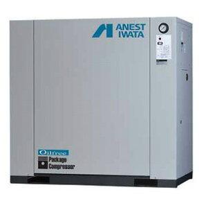 アネスト岩田 11kW エアーコンプレッサー CFP110CF-8.5 (M5/M6) 三相200V オイルフリー 低騒音パッケージタイプ ドライヤ無し