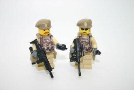 カスタムレゴ LEGO オーストラリア陸軍 チーム1 特殊空挺部隊 SAS 2体セット スワット アーミー 海外限定 カスタムパーツ