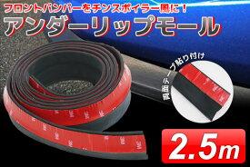 【売り切れ御免!全品エントリーでP最大9倍!2/23〜2/25まで】汎用 アンダーリップモール 2.5m EPDM系ゴムスポンジ素材 黒