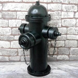 【12月1日限定●ポイント最大27倍】アメリカンレトロ 消火栓 置物 オブジェ 雑貨 模型 アメリカン雑貨 ブリキ アイアン ヴィンテージ ブラック 黒 【BZ-17】