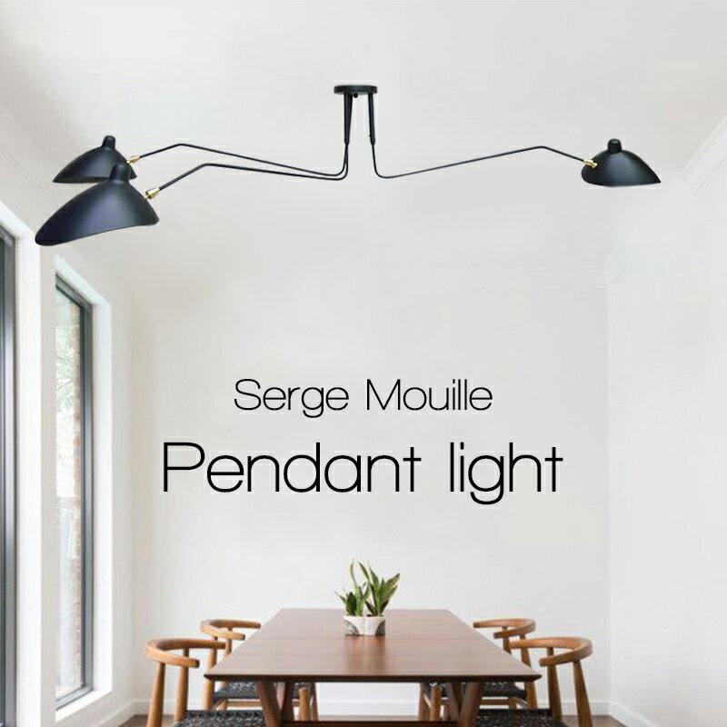 送料無料 大セール Serge Mouille セルジュ・ムーユ デザイナーズ照明 セルジュムーユ 吊り下げ照明 3アーム 北欧デンマーク 男前 黒 11