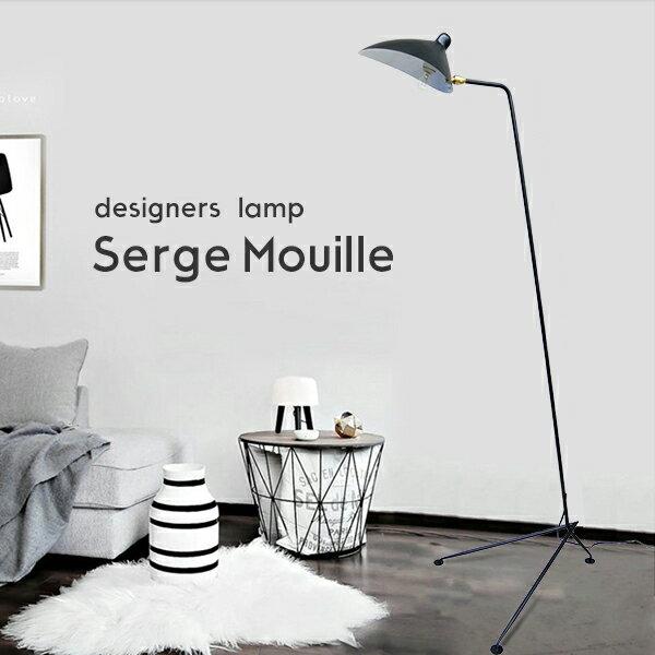 送料無料 Serge Mouille セルジュ・ムーユ デザイナーズ照明 三脚 フロアライト照明 北欧デンマーク 男前照明 黒 08