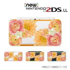 名入れできます★【new Nintendo 2DS LL/new Nintendo 3DS LL/ Nintendo 3DS LL 】 カバー ケース ハード new3dsll new2dsll 3dsll 2dsll / 生花 フラワー 花柄 ピンク カワイイ メール便送料無料 任天堂 スリー ディーエス ニュー