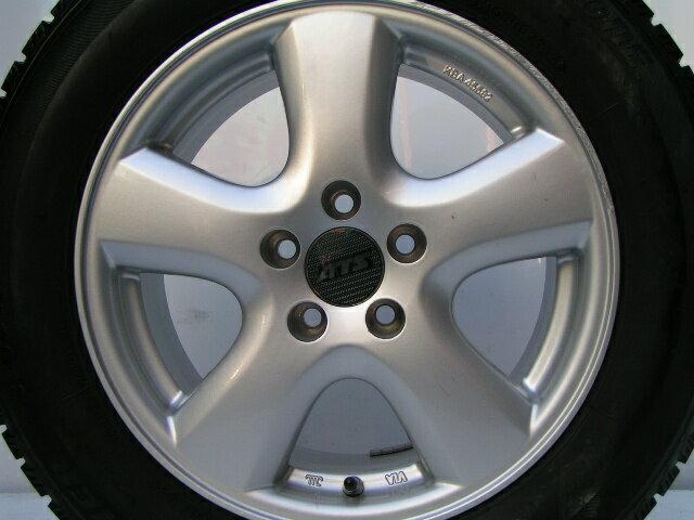 【中古】スタッドレスタイヤ ホイールセット ブリヂストン[195/65R15]VW ゴルフ4 ボーラ アウディ A3(8L)