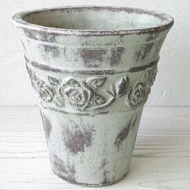 フラワーポット 鉢 メルツメルツ ローズポット L 植木鉢 おしゃれ 陶器