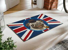 玄関マット British Pug 50x75cm (屋外・屋内兼用)
