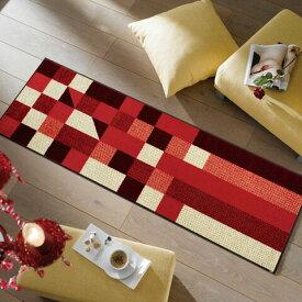 キッチンマット Lumina reddish 60x180cm (屋外・屋内兼用)