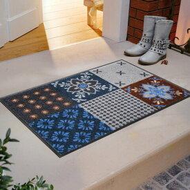 玄関マット Portugal blue-grey 50x75cm (屋外・屋内兼用)