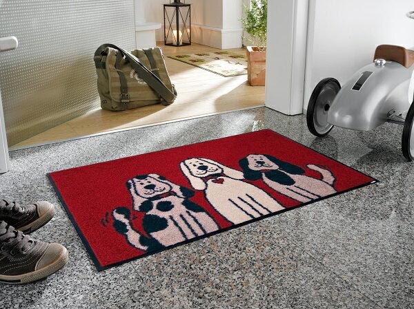 玄関マット Three Dogs 50x75cm (屋外・屋内兼用)