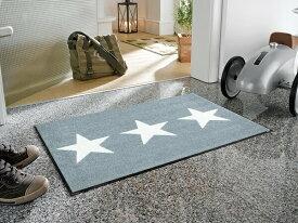 玄関マット Stars grey 50x75cm (屋外・屋内兼用)