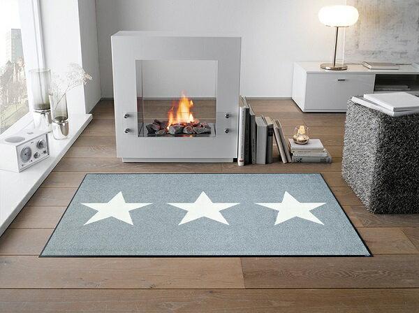 ラグマット Stars grey 75x120cm (屋外・屋内兼用)