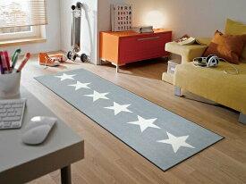 キッチンマット Stars grey 60x180cm (屋外・屋内兼用)