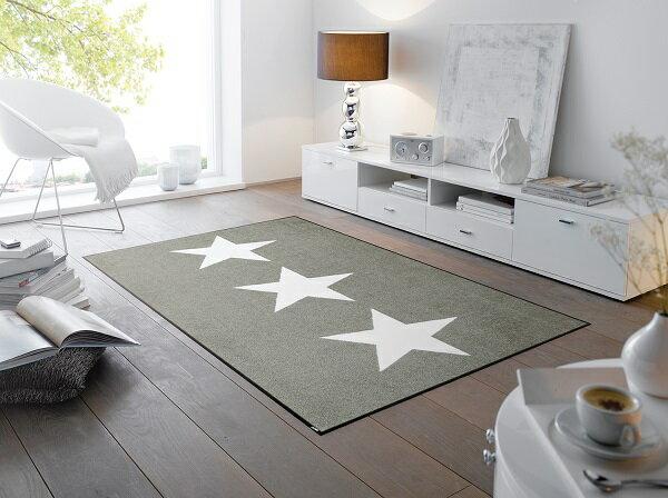 ラグマット Stars sand 75x120cm (屋外・屋内兼用)