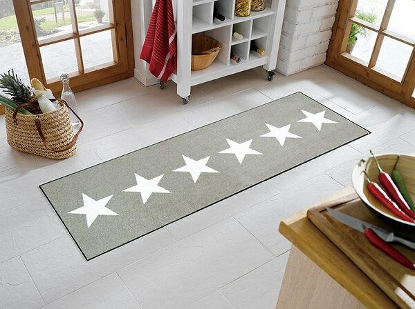 キッチンマット Stars sand 60x180cm (屋外・屋内兼用)