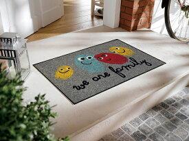 玄関マット Happy Family 50x75cm (屋外・屋内兼用)
